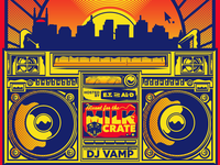Boombox music gigposter poster hip hop illustration vector boombox