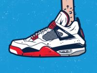 Jayfors feet shoes illustration jiv jordans sneakers