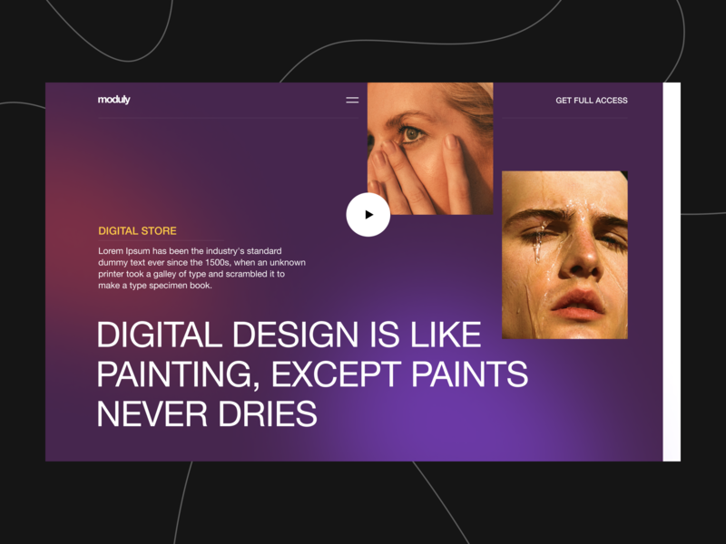 Hello Dribbble store header web clean modern minimal shot debut moduly