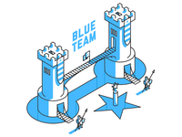 Star Guard Castle - Blue Team