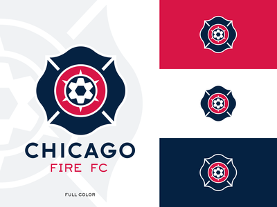 Chicago Fire Crest - Concept mockup embroidery concept rebrand design sports branding telstar cross florian 6 6 point star mls fire chicago soccer logo sports