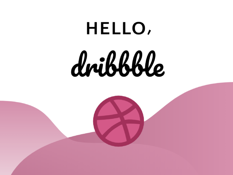 Hello, Dribbble! dribbble design