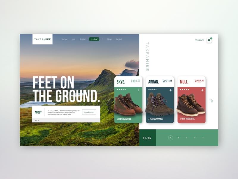 Online Hiking Retailer - [Concept] web ux design xd design website design webdesign ui design ui