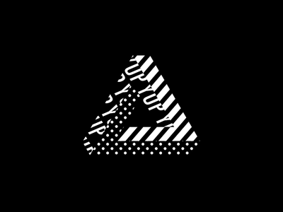 Triangle Motion design animation kinetic type typography pattern blackandwhite adobe aftereffects layered prism pyramid triangle illusion motion