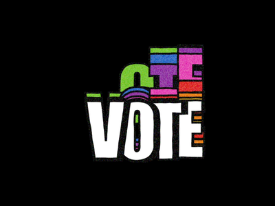 GO VOTE voting voter election missouri kinetictypography kinetic type motion animation civicduty rainbow wiggle grain afterefects change votehimout endwhitesupremecy voteblue govote vote