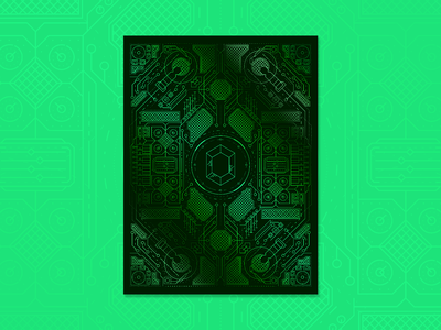 Emerald Dreams Lab Vibe Poster design poster adobe illustrator adobe vector graphic pattern precise clean shiny gradient glow emerald symmetry geometric production design kansascity kc production music