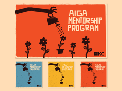 AIGA Mentorship Program Graphics