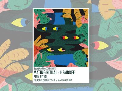 Mating Ritual • Hembree • Pink Royal Show Poster
