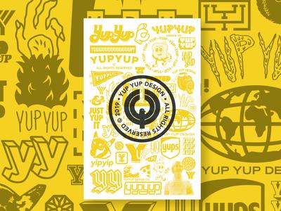 YupYup Design Logo Poster