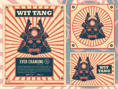 Wit Tang Beer Label/Poster