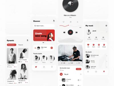 Music application vector design ui