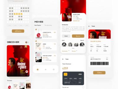 Movie application design ui