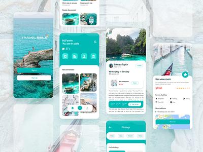 Tourism application design ui