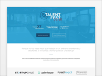 Logo & landing page for Start-Up Chile Talent Fest 2015