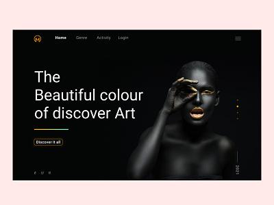 Discover Art Landing Page UI Design discover productdesign design landingpage art uiux
