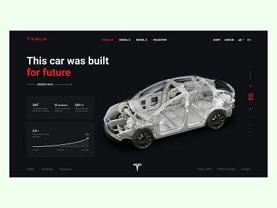 Tesla Chassis Landing Page UI Design appdesign illustration animation website productdesign blockchain crypto landingpage tesla uiux