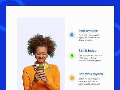 Crypto Finance Web App app website visuals finance branding uiux blockchain animation design crypto
