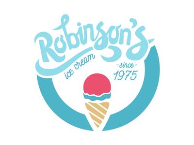Robinson's Ice Cream branding logo lettering handlettering