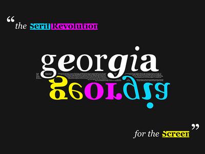Gerogia Dark poster screen serif georgia typography typeface type