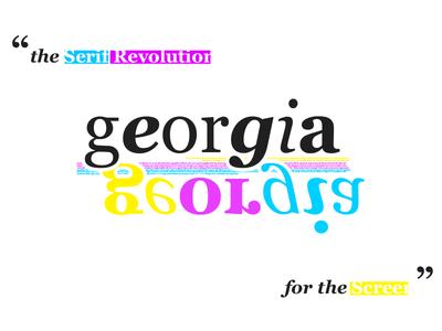 Georgia White poster screen serif georgia typography typeface type