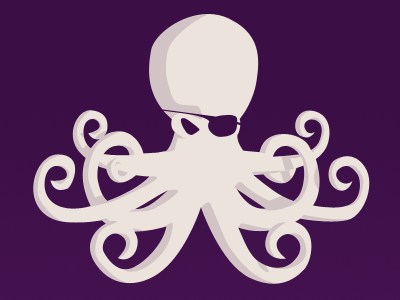Octopirate octopus poulpe pirate purple shades