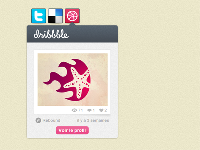 Dribbble last shot Api api dribbble widget portfolio