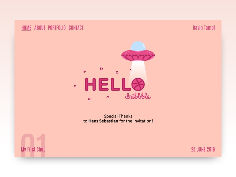 My First Shot firstshot hellodribbble player new indonesia designer web icon ui logo branding vector dribbble design debut