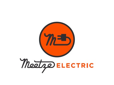 Meetze Electric logo design branding