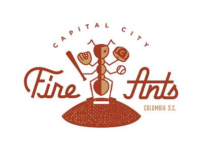 Fire Ants branding design illustration