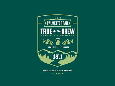 True to the Brew - Croft illustration badge