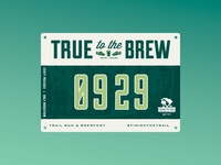 True to the Brew - Croft : : Race Bib
