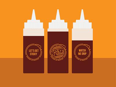 Kikis Syrup Bottles brand branding design illustration