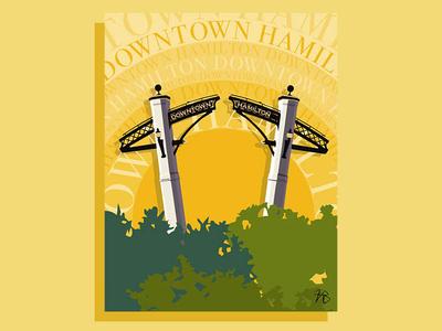 Hamilton Series: Gore Park series postcard design ai prints typography travel type hamilton poster art poster design printing print design poster print