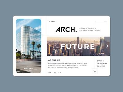 ARCH // FUTURE INDUSTRY architecture website web design webdesign web designs desktop ui design uidesign ui  ux uiux vector illustration ui easy trending designer design graphics concept