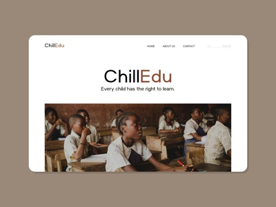 ChildEdu // Every child has the right to learn. simple design website design web design webdesign website ux branding designer design graphics concept warmup simple foundation web ui design uidesign uiux ui basic