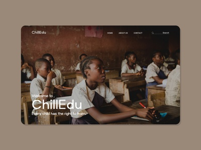 PART 2 - ChildEdu // Every child has the right to learn. designer easy minimal simple design simple graphics ui design uidesign ui  ux uiux ui website design web design webdesign website web branding basic