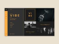 "Landing Page for ""V I B E"" uiuxdesign uiux mobile ui website design website uidesign web trending graphics easy template social media minimal landing animation brand ui design ui"