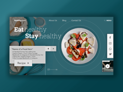 Another Graphics Design of Food/Recipe Page