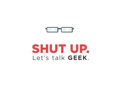 Let's Talk Geek. typography illustration iconography logo geek gamer text nerd