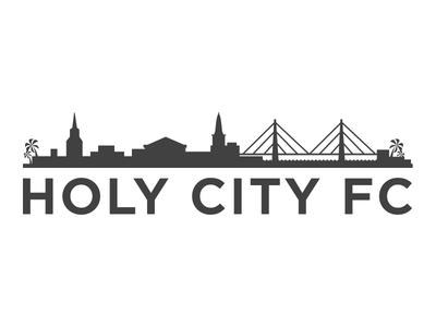 Holy City Football Club- Full Text Lockup usl sports carolina south soccer logo futball football crest charleston brand