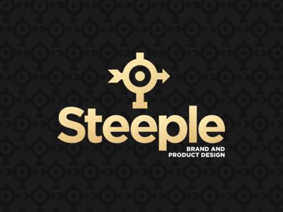 Full Steeple Lockup icon typography vector branding charleston brand logo illustration