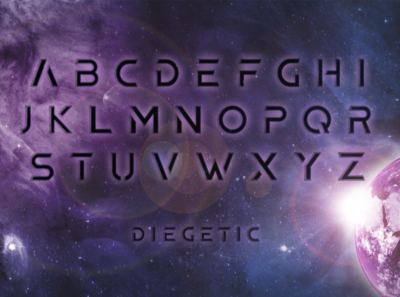 Diegetic: A science fiction font design typography typeface design scifi science fiction movie font