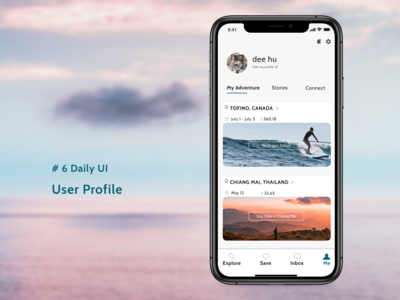 #6 Daily UI--User Profile