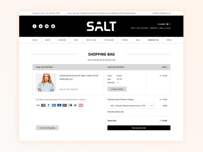SALT checkout page
