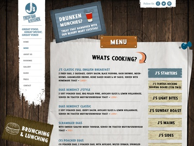 Restaurant Menu Page - Js Website