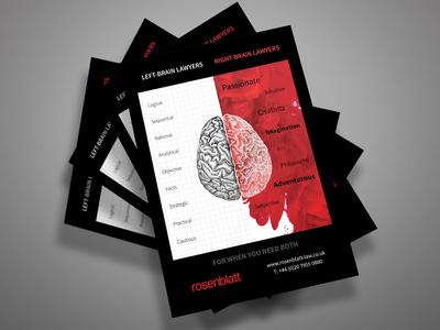Rosenblatt - Flyer Design Concept
