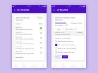 Course & Quiz Screen Design