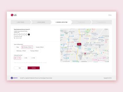 LG Web Portal Page
