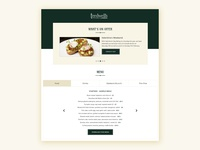 Restaurant Menu Web Section Design screen tabs button valentine restaurant offer drinks food template sample simple web ux ui interface layout daily ui clean carousel menu