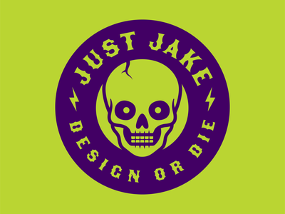 Design or Die Badge logo badge skull